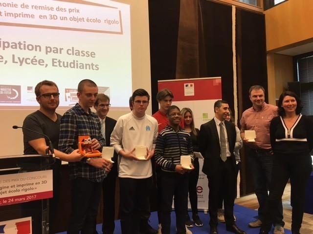 Cérémonie de remise des prix du Concours d'Impression 3D lors de la Semaine de l'Industrie