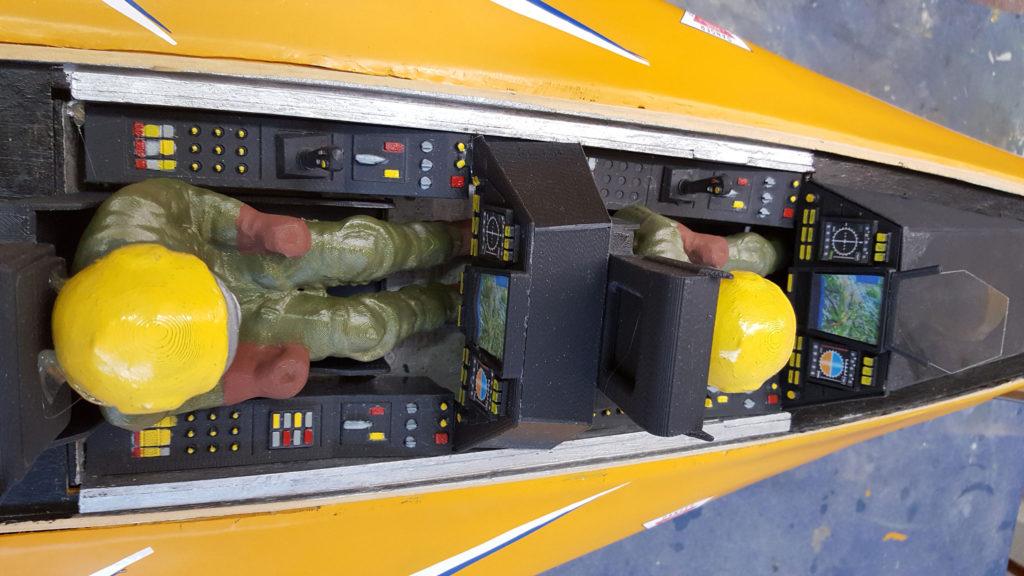 Maquettes volante de Renée Lempereur : l'intérieur de son Rafale imprimé en 3D
