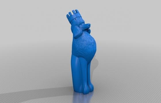 Chess poodle rock 3D