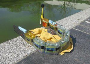 Envirobot, le robot imprimé 3D, hors de l'eau