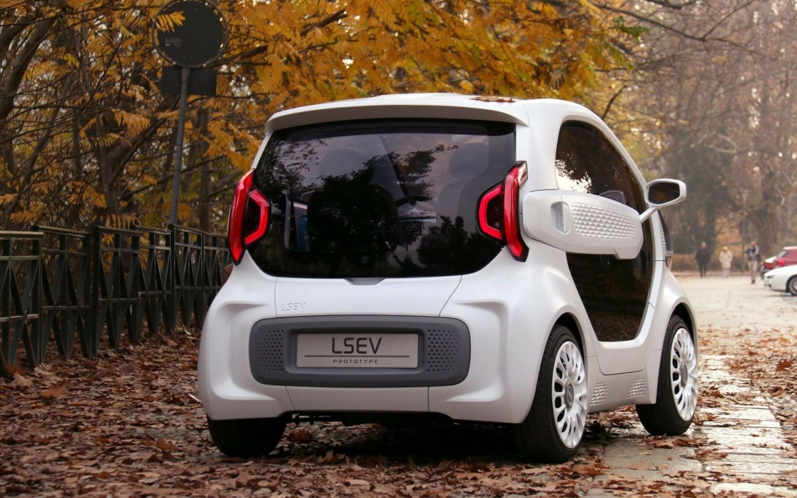 LSEV : la voiture imprimée en 3D vue de derrière