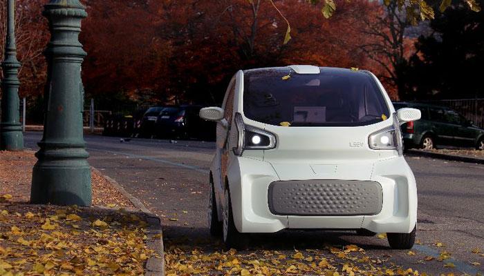 LSEV : la voiture imprimée en 3D vue de face