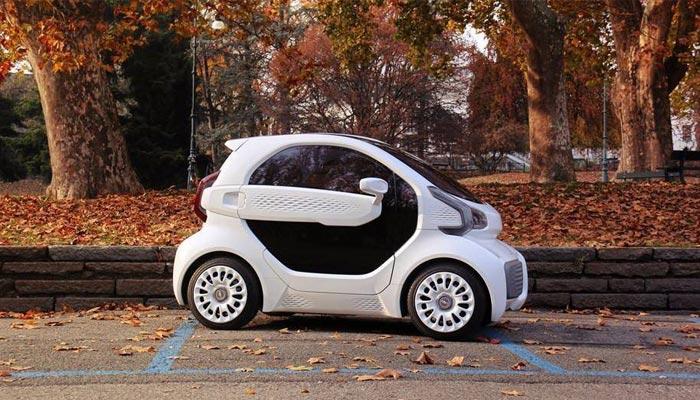 LSEV : la voiture imprimée en 3D vue de profil