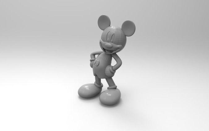 propriété intellectuelle dans l'impression 3d : exemple d'un modèle 3D de Mickey