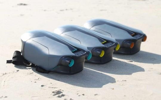 3 jetpacks sous-marins CUDA