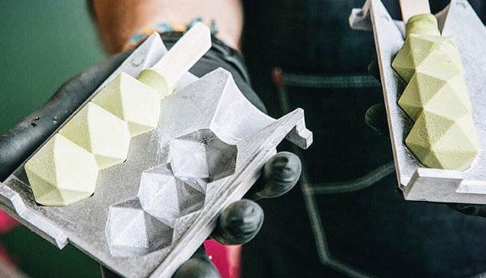 Les moules imprimés en 3D pour les glaces